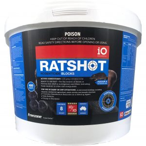 Ratshot Blue BLocks wax block rat bait