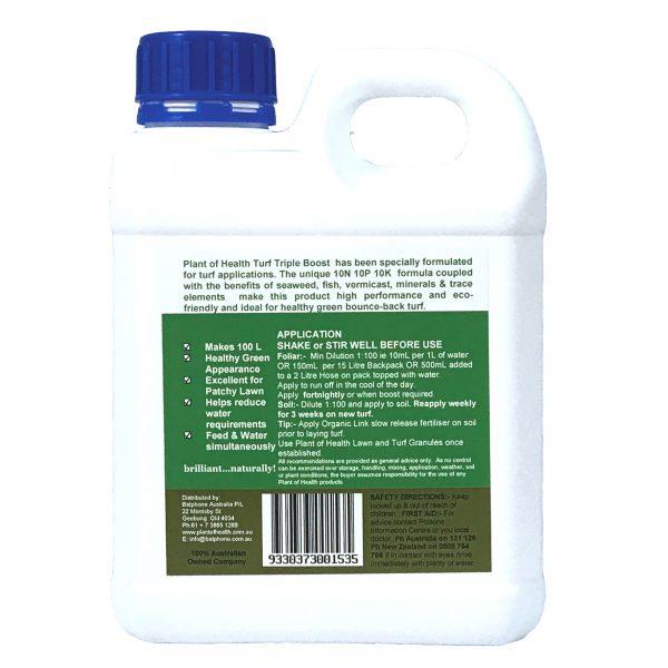 Turf Triple Boost Liquid Fertiliser Concentrate 5 Litre