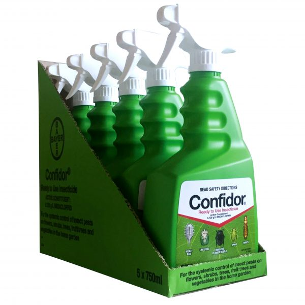 Bayer Confidor Ready to Use Insecticide 750mL x 5 Pack