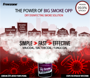 Big Smoke OPP Smoke Generator Hospital Grade Household Disinfectant