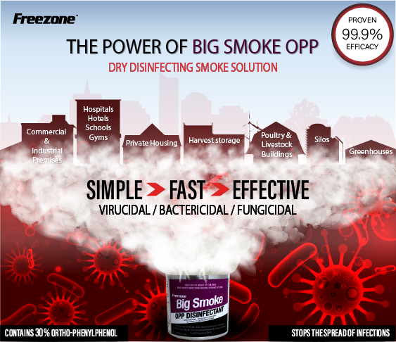 Big Smoke OPP Smoke Generator Hospital Grade Household Disinfectant